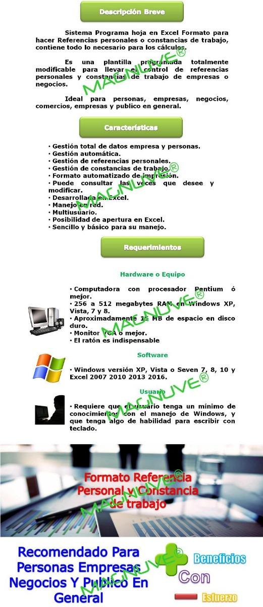 Formato Excel Constancia Trabajo Referencia Personal Empresa - formatos de minutas en excel