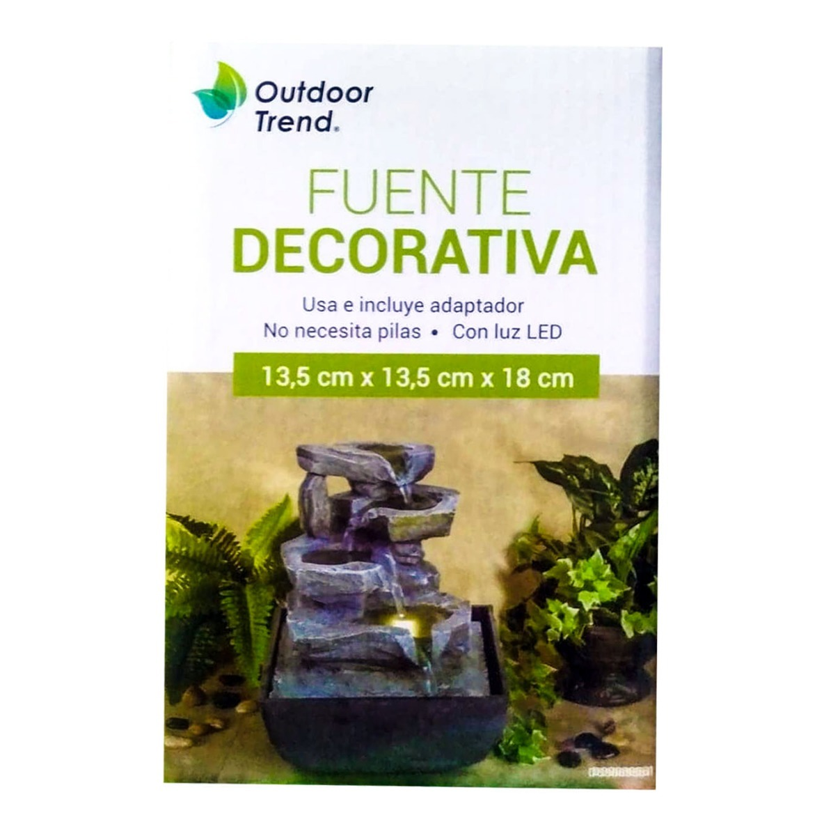 Fuente Decorativa Fuente Decorativa Outdoor Trend Con Luz Led 18cm