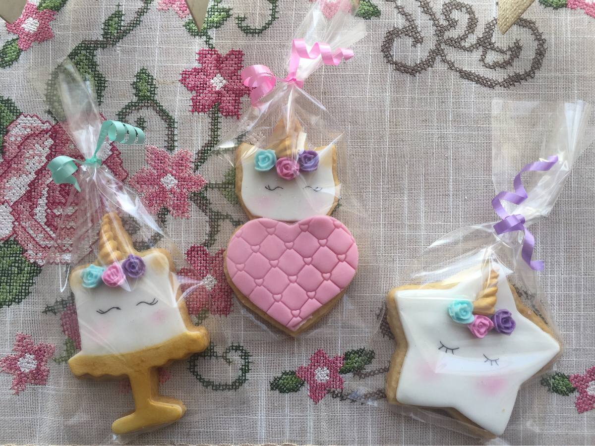 Como Hacer Paletas De Galletas Decoradas Galletas Decoradas De Unicornio 18 00 En Mercado Libre