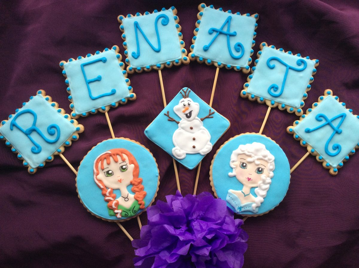 Precio De Galletas Decoradas Galletas Decoradas Profesionalmente Frozen Docena 168