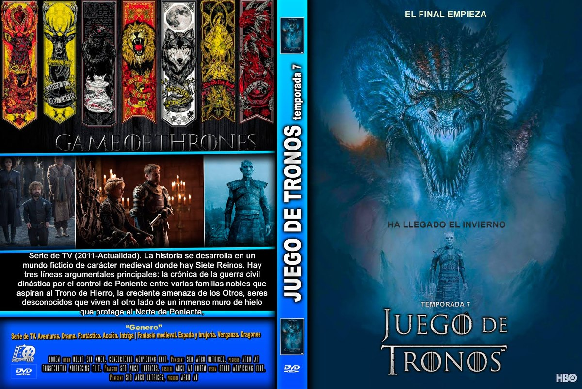 Juego De Tronos Libro Pdf Game Of Thrones 7 Dvd Hd 720p Menu Español Ingles