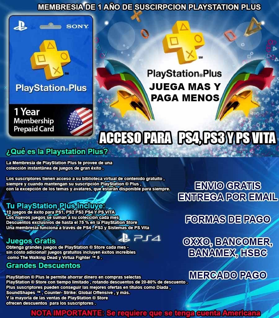 Playstation Plus 12 Meses Playstation Plus 12 Meses Oferta