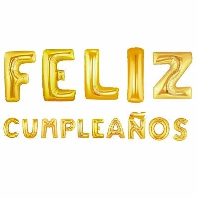 Globo Feliz Cumpleaños Letra Dorado Fiesta 41104 / Fernapet