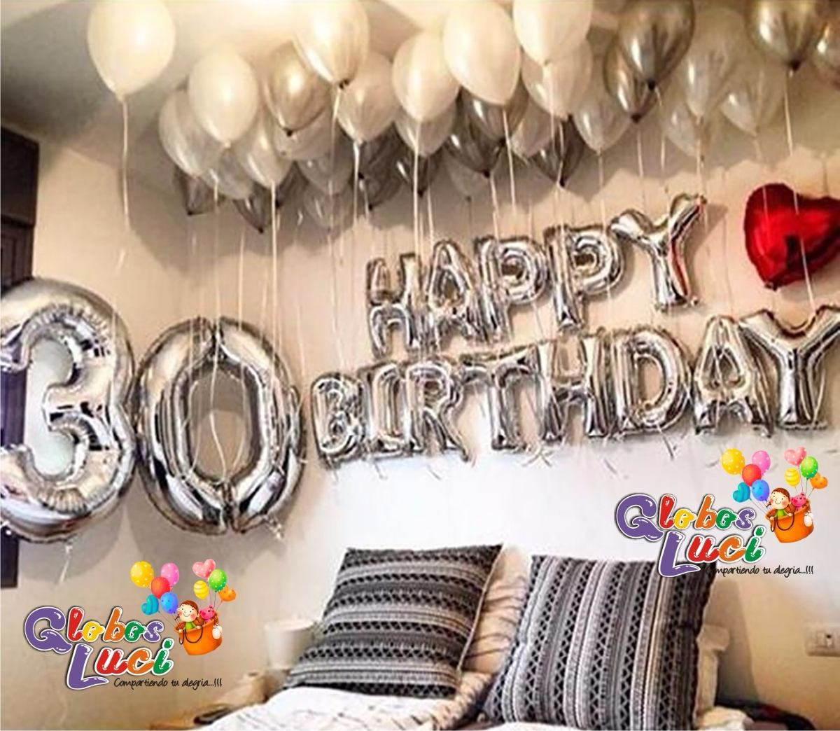 Donde Comprar Letras Para Decorar Globos Letras Metalicos Happy Birthday S 20 00 En