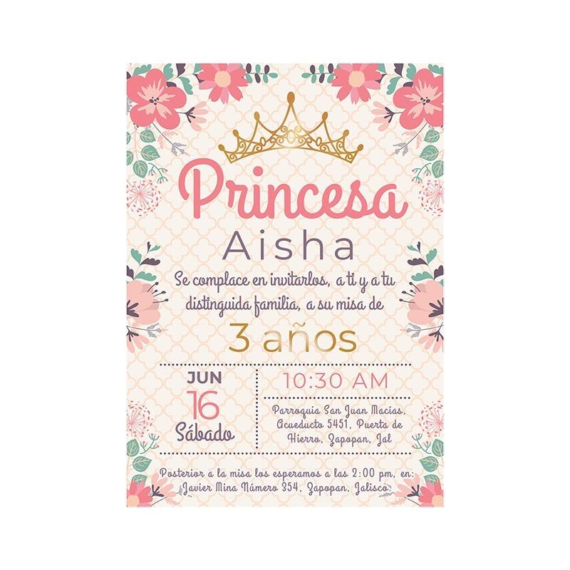 Invitaciones Fiesta Infantil Presentacion Pdf Formato Niña - $ 6000