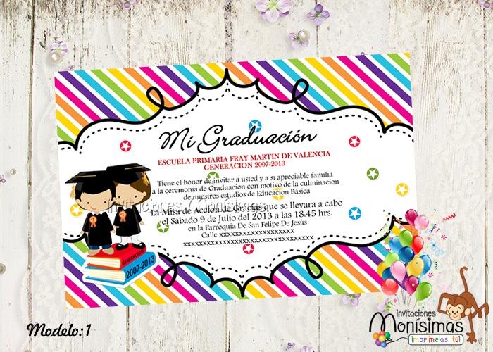 formatos para invitaciones de graduacion - Josemulinohouse