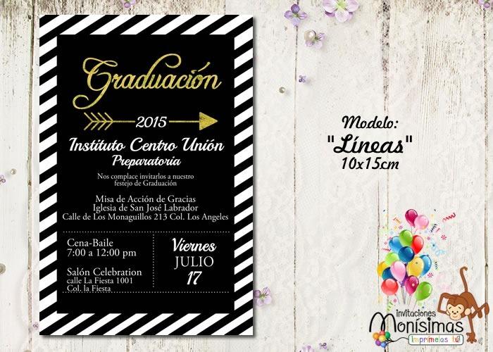 Invitaciones Para Graduación---imprimelas Tu---maa - $ 7500 en