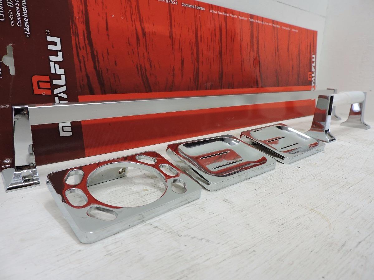 Juego De 5 Accesorios Para Baño Cromo Metalflu 5e37c97adb43