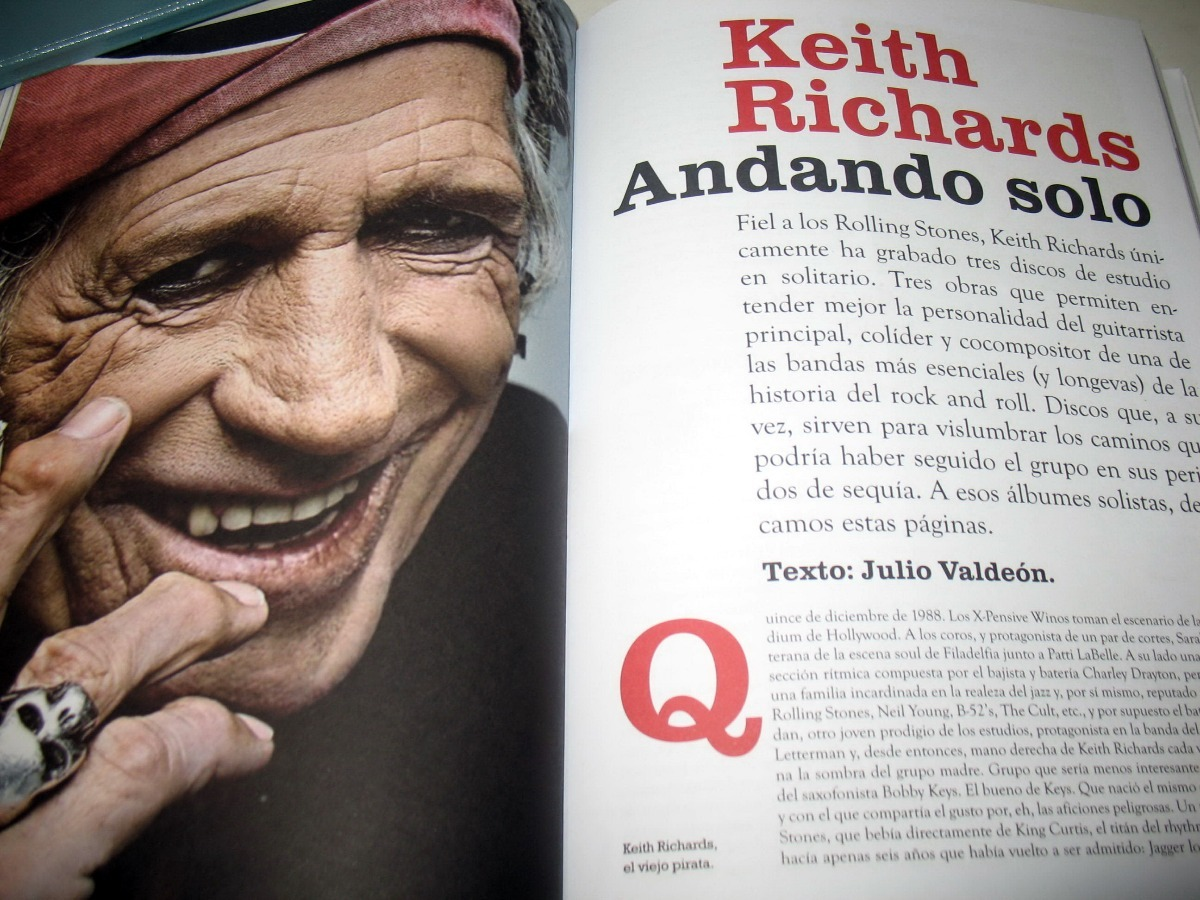 Libro De Keith Richards Keith Richards Libro Revista Marzo 2018 España Español Stock