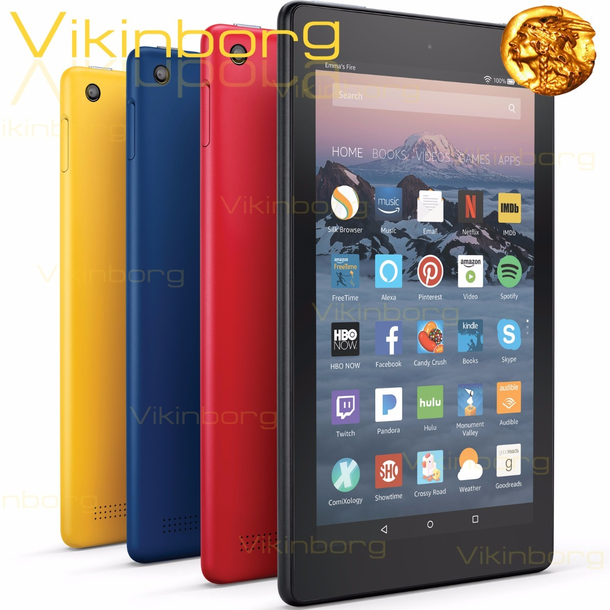 Descuento Libros Amazon Kindle Amazon Fire Hd 8 Tablet 16 Gb Alexa Quadcore Blue Red