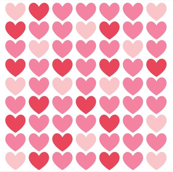 Kit De Vinilo Corazones 02-63 Corazones Rojos Y Rosas De 6cm - $ 586 - rosas y corazones