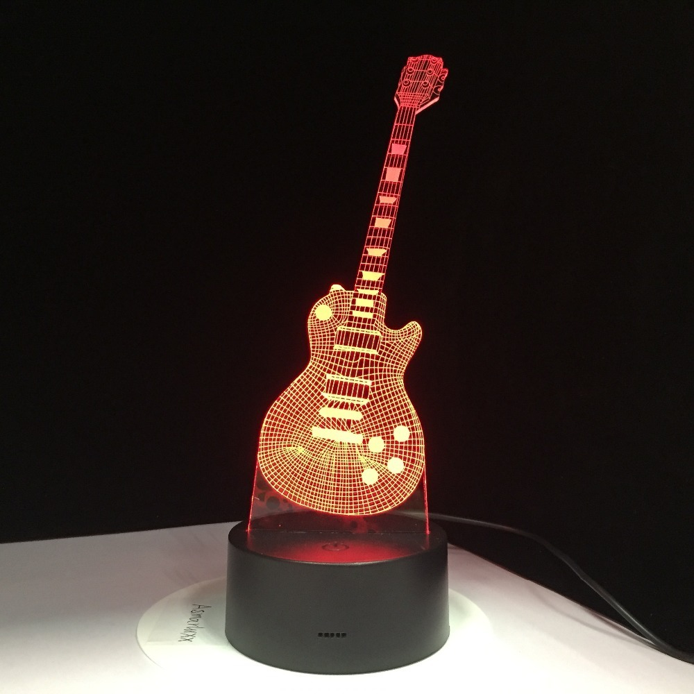 Lamparas Despacho Lámpara Led 3d Guitarra Despacho Gratis