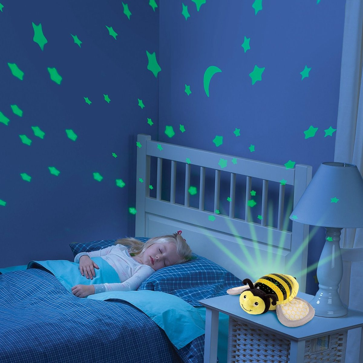 Baby Musical Night Light Lampara Proyector Para Bebe Con Musica Sumer Infant Abeja
