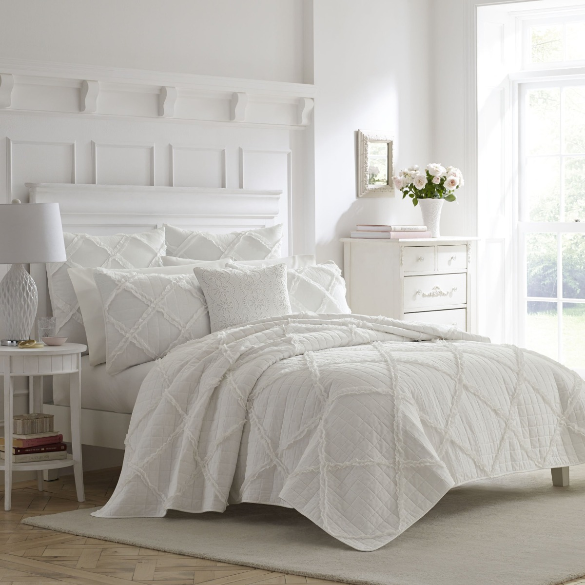 Laura Ashley Muebles Laura Ashley Maisy Ropa De Cama Color Blanco Cottage Blan