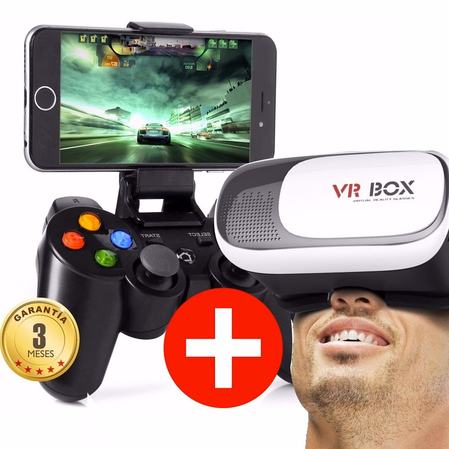 Ofertas Movil Libre Lentes 3d Vr Box Virtual + Control Joystick Bluetooth