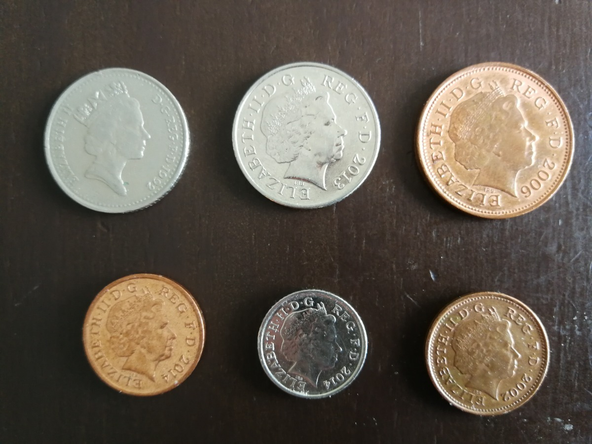 Libras Esterlinas Monedas Libras Esterlinas Monedas En Curso Penny Pence 100 00