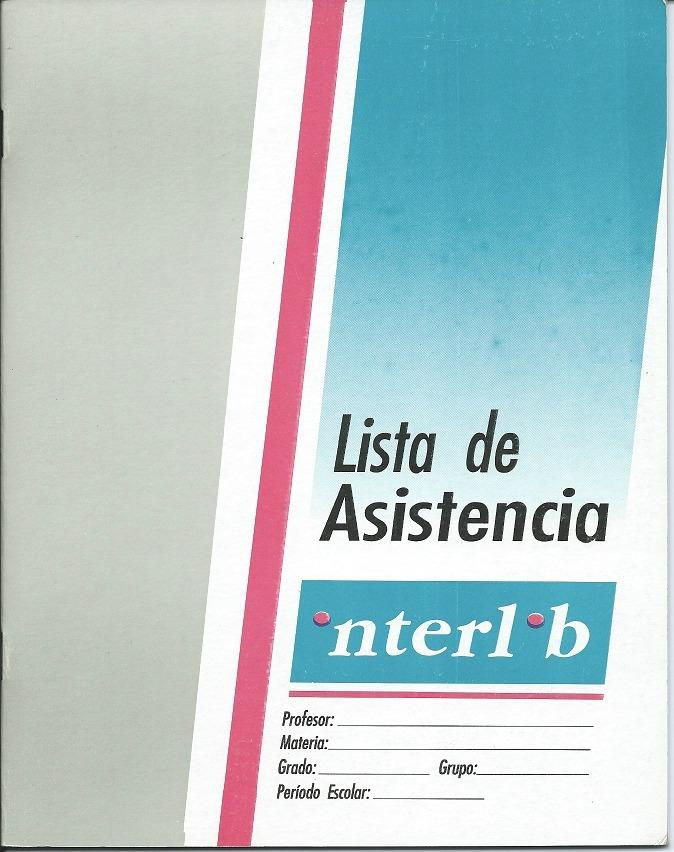 Libreta Para Listas De Asistencia Interlib Maestro Profesor