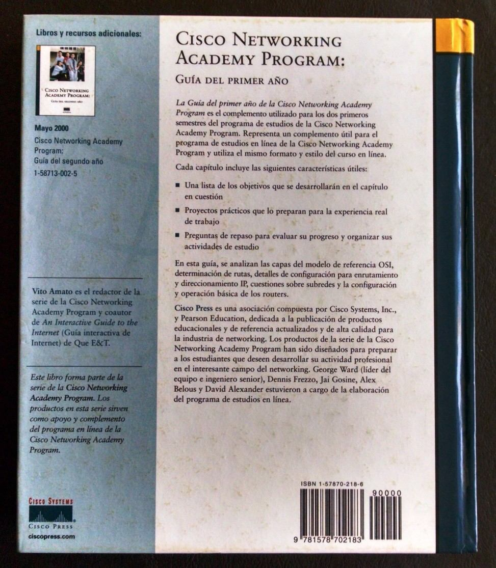 Libro Cisco Libro Cisco Networking Academt Program 200 00