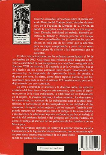 Libro Derecho Individual Del Trabajo (portada Puede Variar