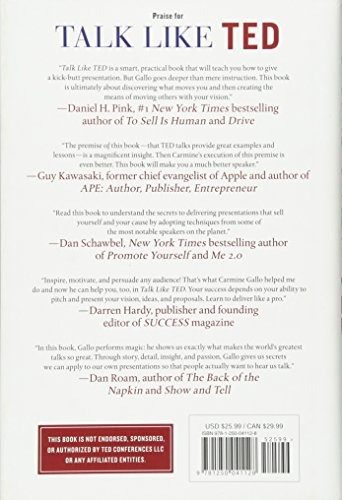 Libro Talk Like Ted The 9 Public Speaking Secrets Of The