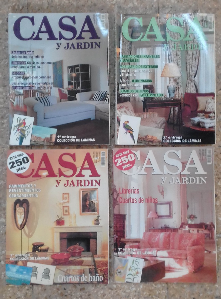 Casa Y Jardin Revista Decoracion Lote 4 Revistas Casa Y Jardin Decoracion Muebles Interiores 230 00