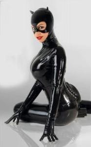 Girl In Action Wallpaper Macac 227 O Vinil Latex Pvc Cosplay Catsuit Fantasia Mulher