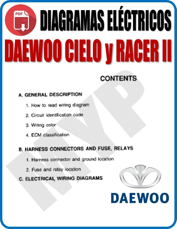 Daewoo Cielo Wiring Diagram Download Wiring Schematic Diagram