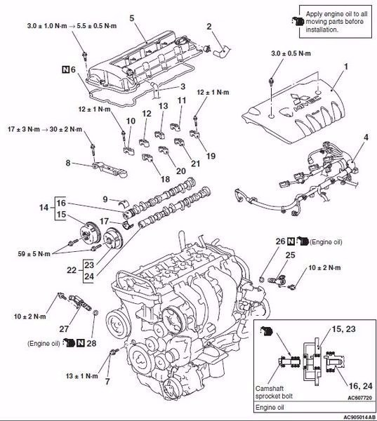 volvo xc90 turbo Diagrama del motor