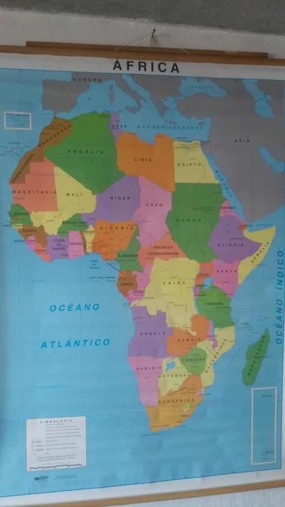 Mapa Tamaño Mural Continente Africano - $ 9990 en Mercado Libre