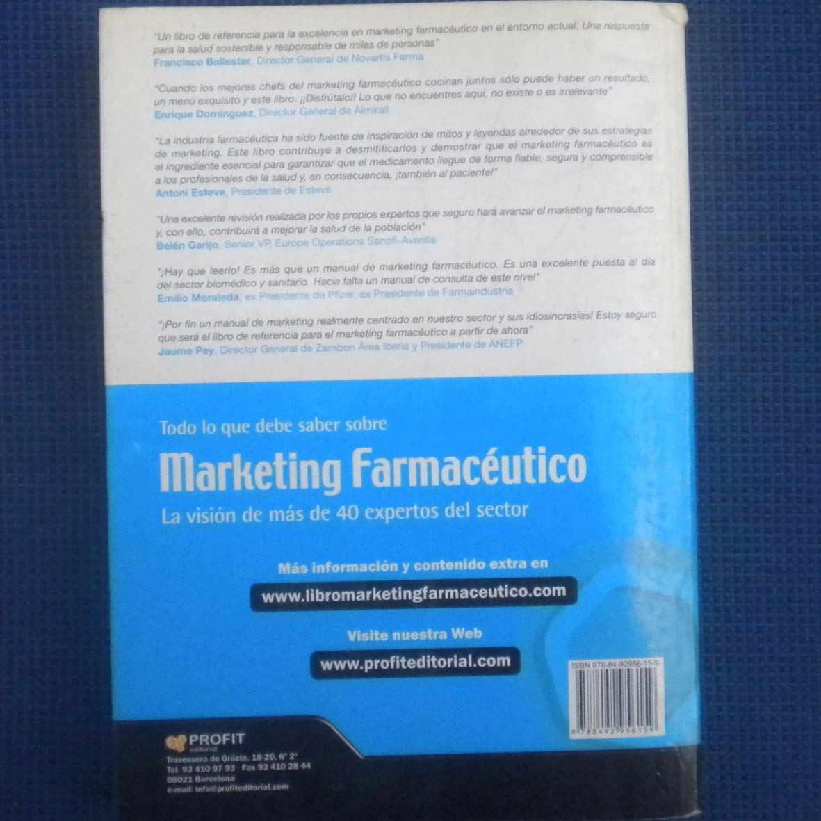 Marketing Farmaceutico Libro Marketing Farmaceutico La Vision De Mas De 40 Expertos Del 40 000