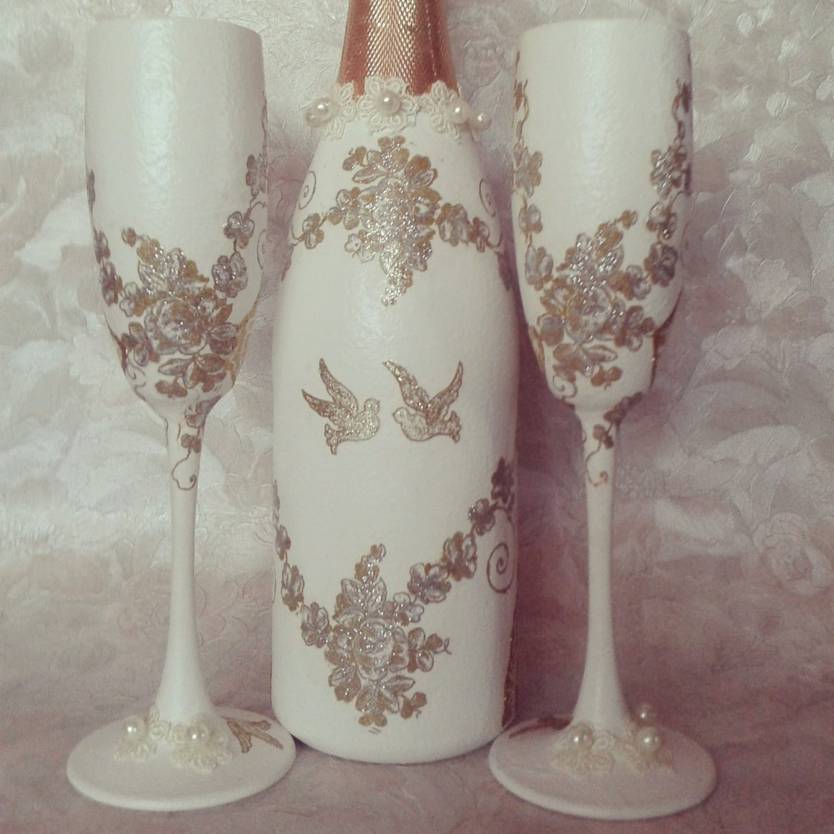 Comprar Botellas Decoradas Mas Copas Para Boda Y Botellas Decoradas 3 200 00