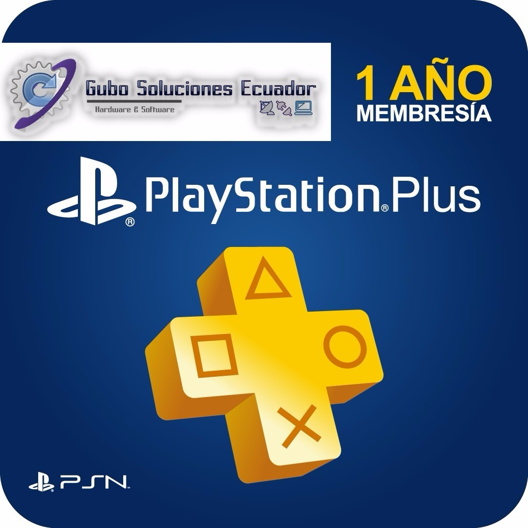 Playstation Plus 12 Meses Membresía Play Station Plus 1 Año U S 64 99 En