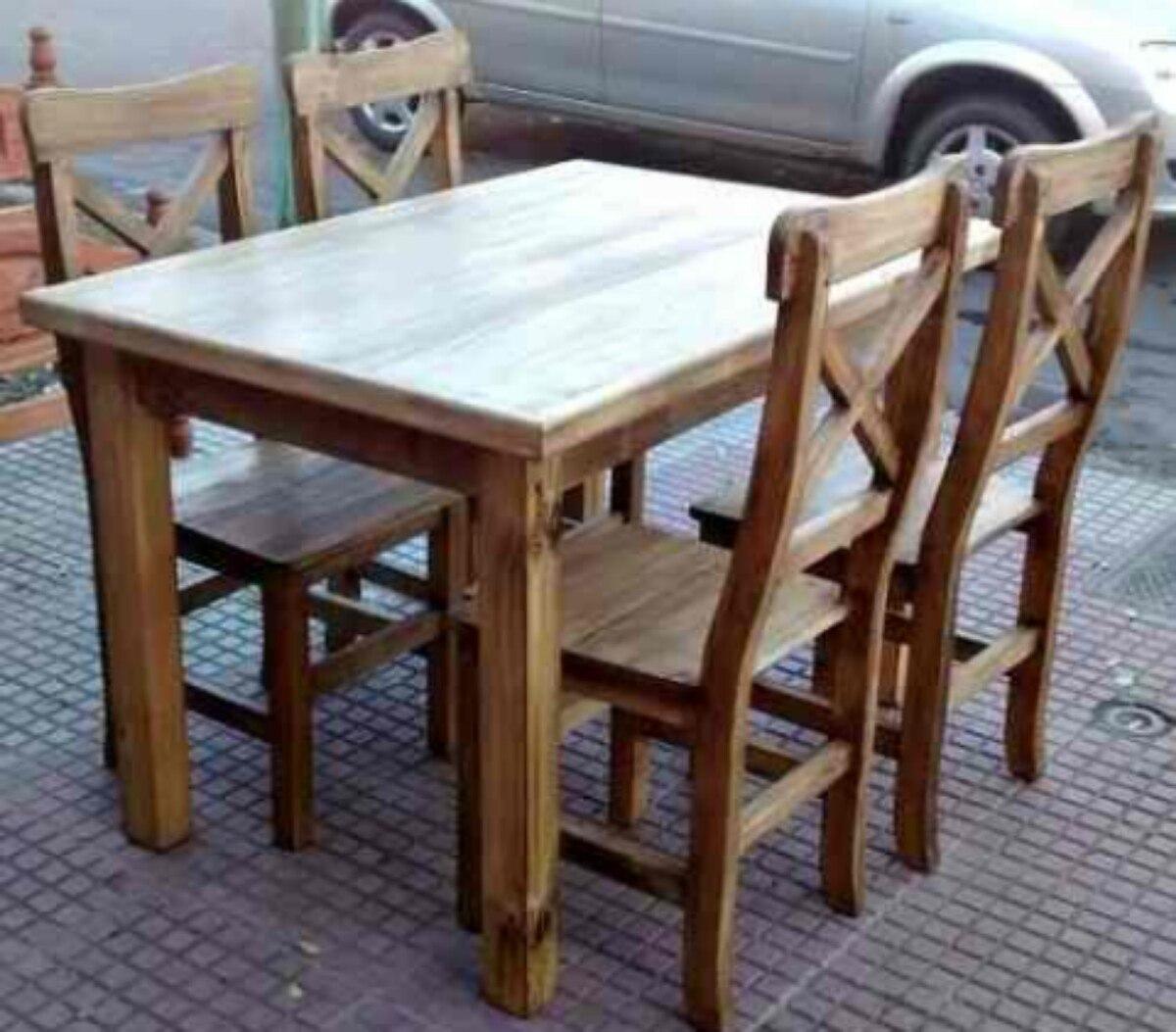 Mesas Y Sillas Para Cocina Comedor | Conjunto De Mesa Y 4 Sillas ...