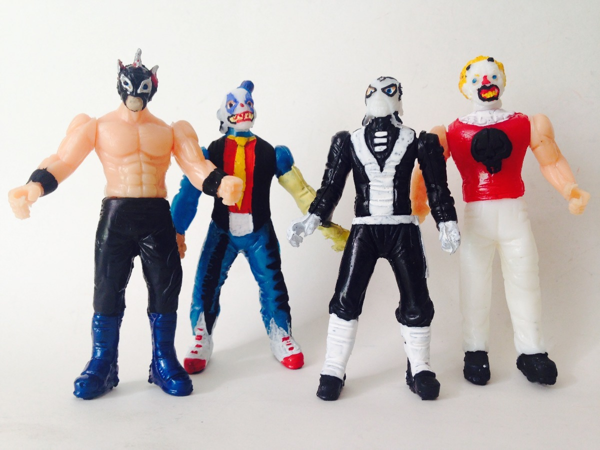Juguetes Lucha Libre Mini Luchadores Triple Aaa Psycho Circus Monster Clown