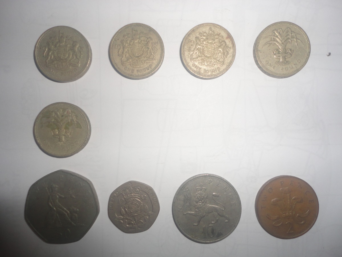 Libras Esterlinas Monedas Monedas Libras Esterlinas Reino Unido 1969 82 83 85 Y 86