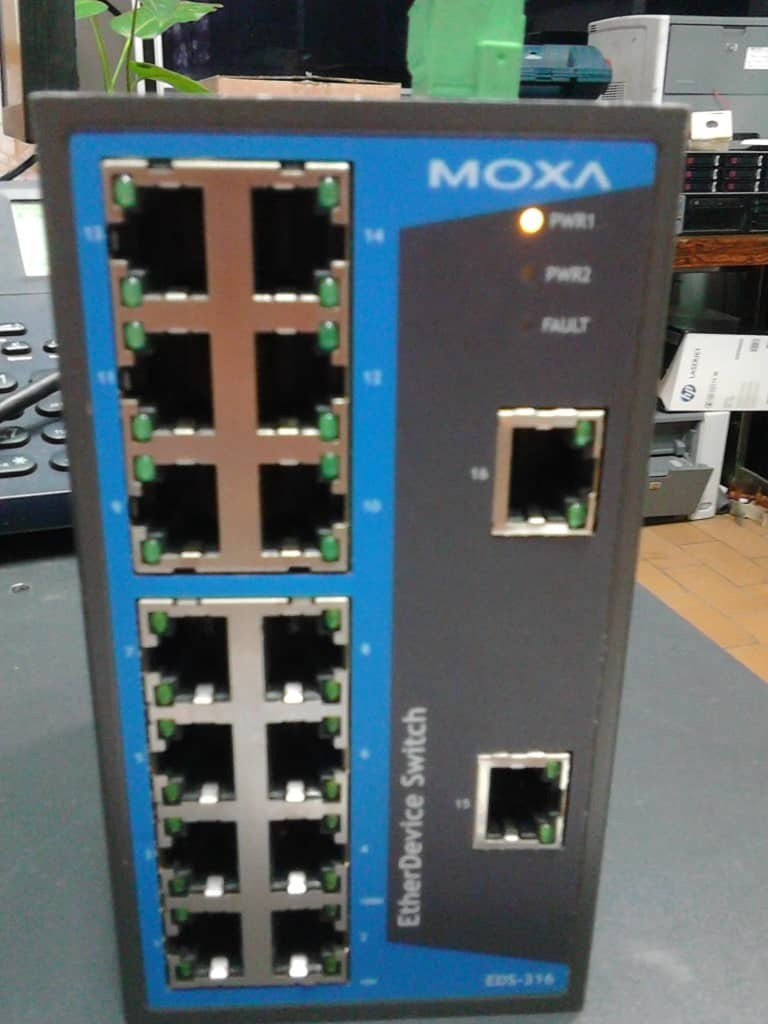 Moxa Switch Moxa Switch 14 Puertos Ethernet Industrial Eds 316 Bs 30 000 00