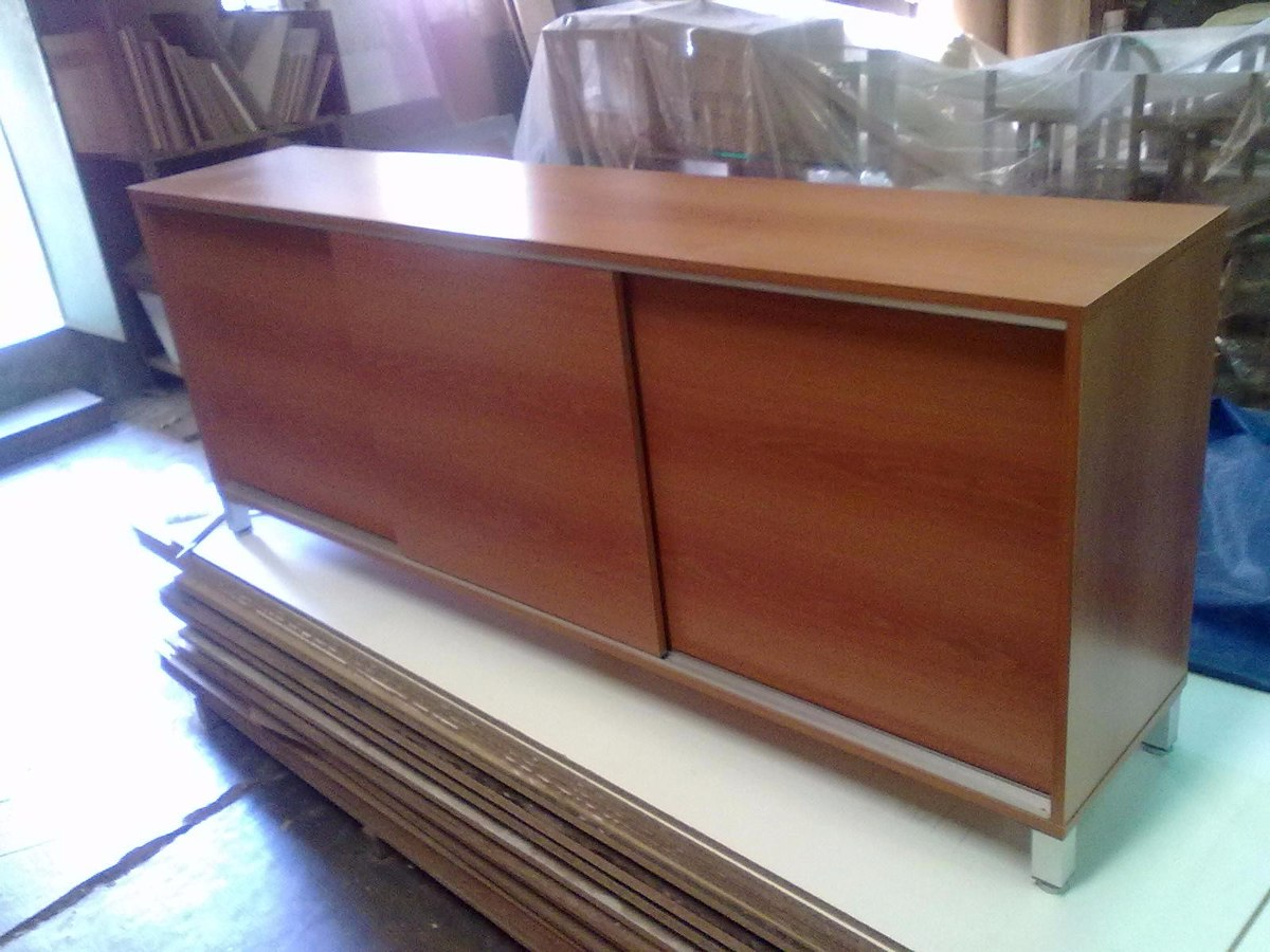 Credenza Con Dos Puertas Corredizas : Muebles de melamina con puertas corredizas placard
