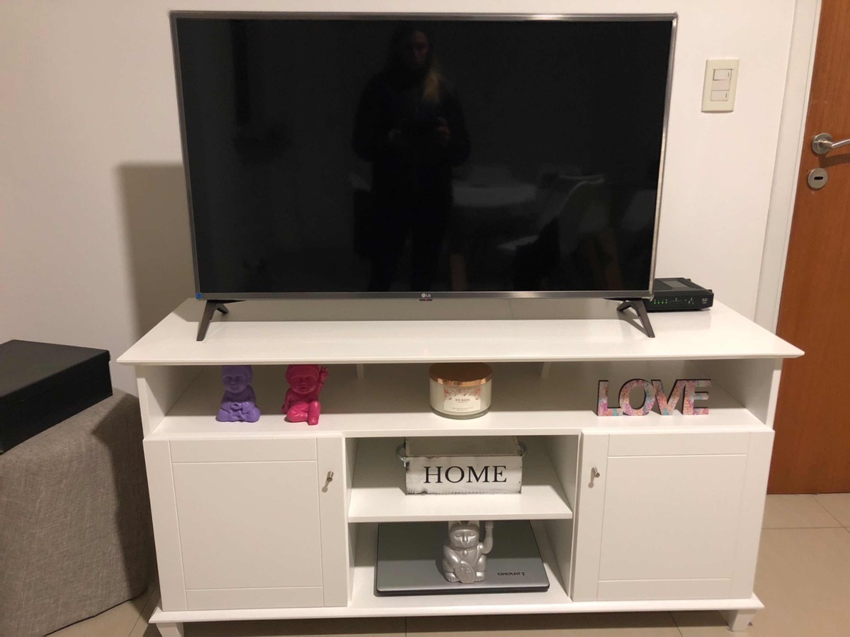 Mueble Television Blanco Mueble Tv Color Blanco Impecable 7 500 00