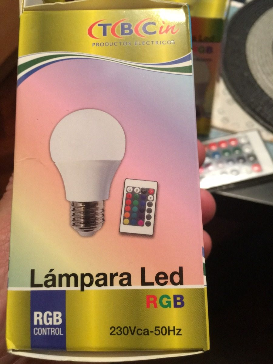 Lamparas Led 3w Pack De 3 Lamparas Led 3w E27 Rgb 16 Colores Con Remoto 220v