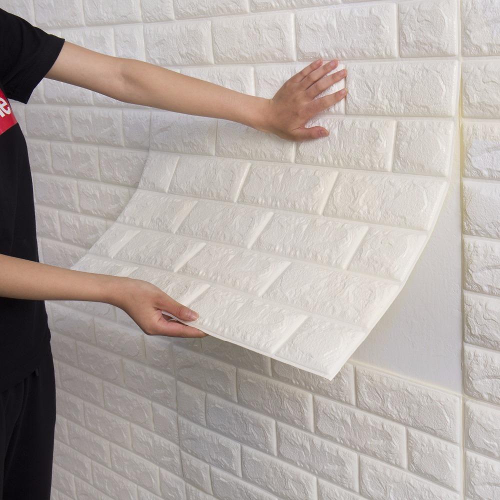 3d Brick Wallpaper For Walls Papel De Parede Painel 3d Auto Adesivo Tijolo Relevo