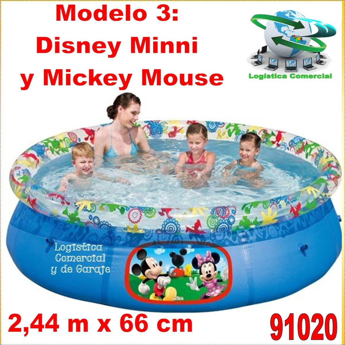 Piscina Intex Familiar Piscina Familiar Inflable 244 X 66 Disney Princesas Cars