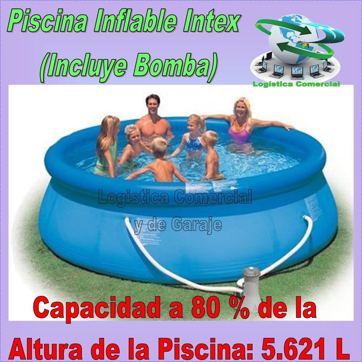 Piscina Intex Familiar Piscina Familiar Inflable 366 X 76cm 43 Bomba Filtrante
