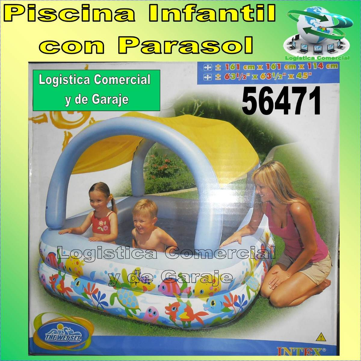 Piscina Intex Familiar Piscina Inflable Con Parasol O Techo Para Niños Intex