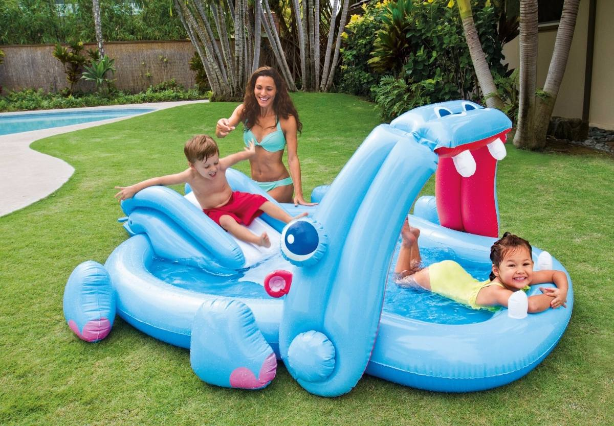 Piscina Intex Infantil Piscina Inflable Intex Centro De Juegos Hipopotamo 57150