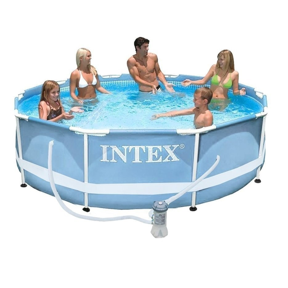 Piscinas Intex Site Piscina Intex 4485 Litros Estrutural Bomba Filtrante Ferro