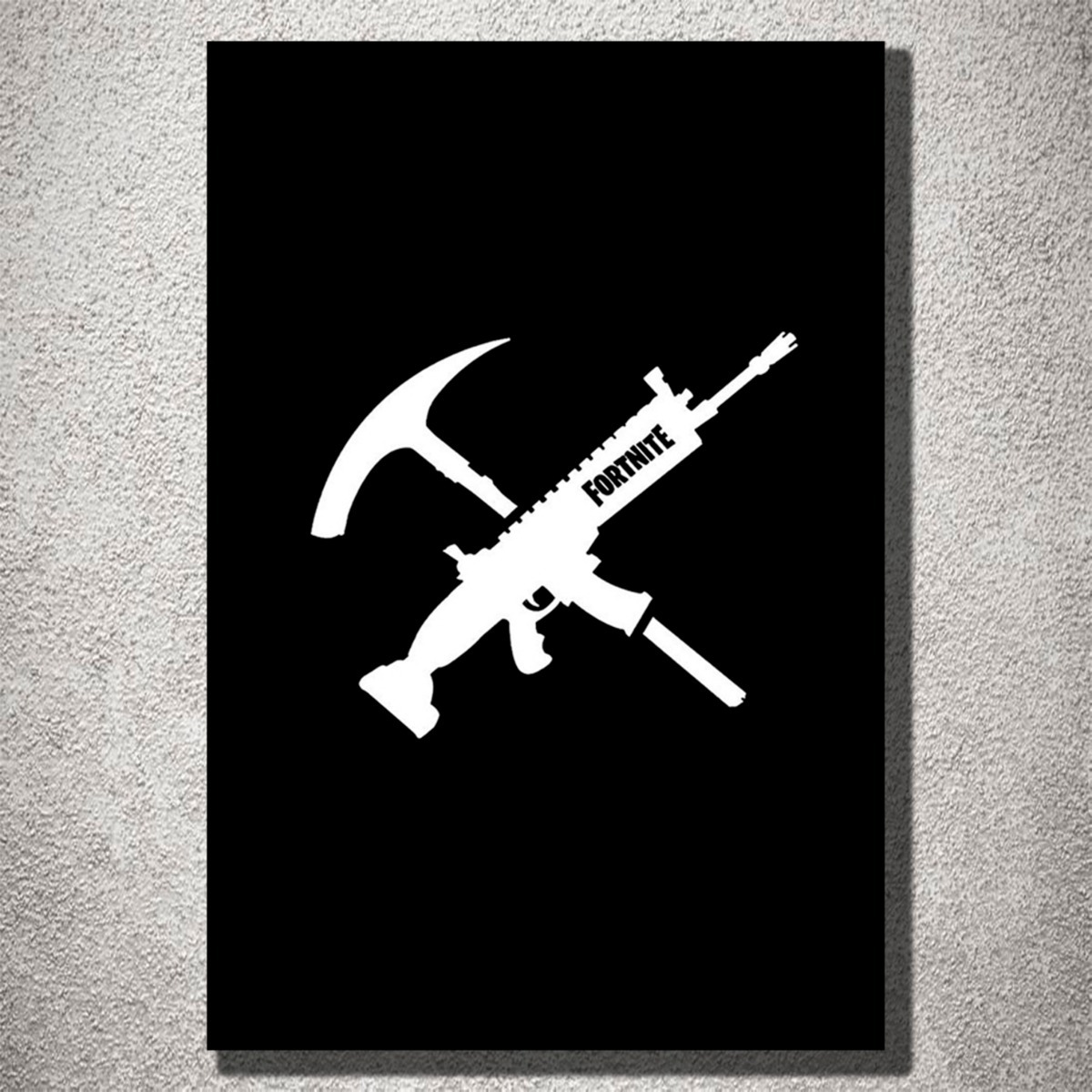 Armas Decorativas Placa Decorativa Fortnite Logo Com Armas Decorativas Mdf
