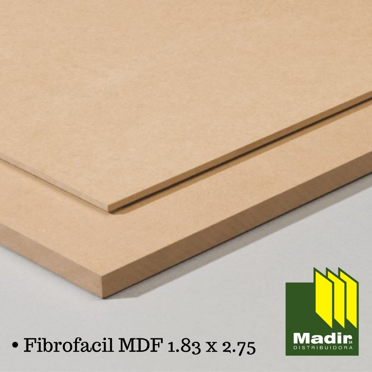 Mdf 22mm Placa Mdf Fibrofacil 22mm 1 83 X 2 75 Mts Madir