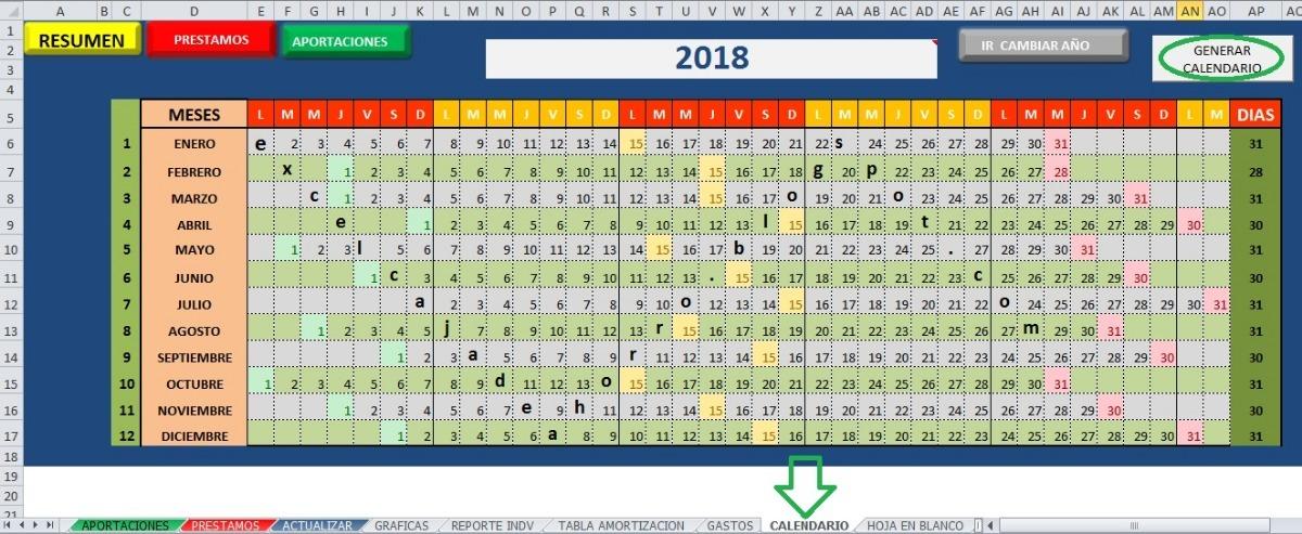 Plantilla Excel Para Llevar Una Caja De Ahorro, Efectiva - $ 21000