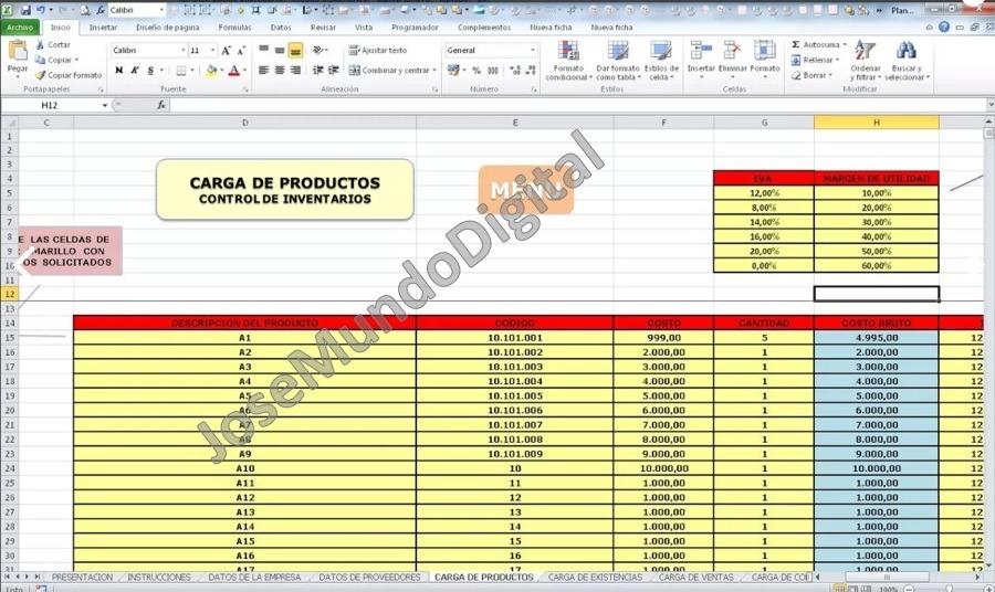 Perfecto Excel Plantillas Para Inventario Molde - Colección De - formato inventario en excel