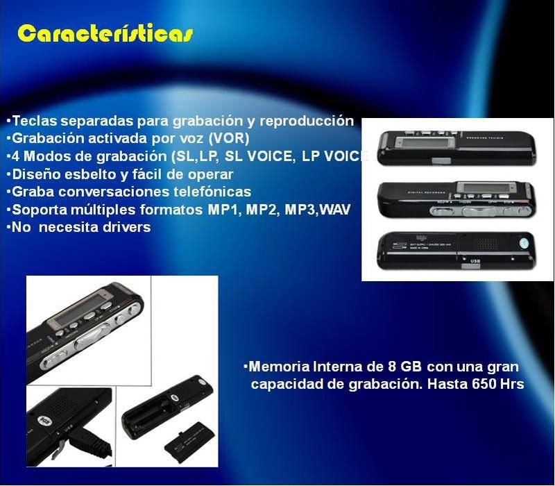 Grabadora Digital Activa Por Voz Graba Llamadas Telefonicas